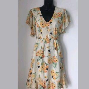 ASOS Floral Midi Dress Size 8